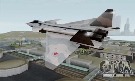 MIG 1.44 Flatpack Russian Air Force para GTA San Andreas esquerda vista