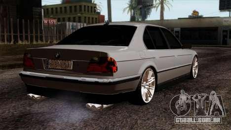 BMW 750iL E38 Romanian Edition para GTA San Andreas esquerda vista