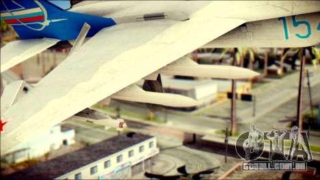 MIG-29 Fulcrum Reskin para GTA San Andreas vista direita