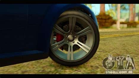GTA 5 Ubermacht Zion XS para GTA San Andreas traseira esquerda vista