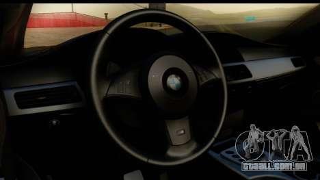 BMW M5 E60 Stanced para GTA San Andreas vista traseira