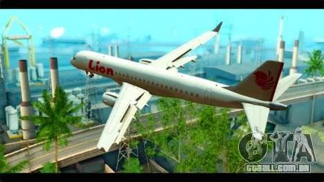Embraer 190 Lion Air para GTA San Andreas esquerda vista