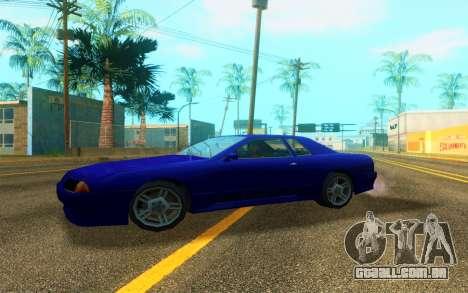 Elegy WorldDrift v1 para GTA San Andreas traseira esquerda vista