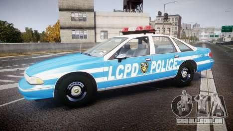 Chevrolet Caprice 1994 LCPD Patrol [ELS] para GTA 4 esquerda vista