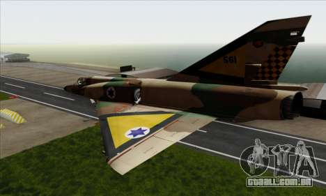 Dassault Mirage III AFI para GTA San Andreas esquerda vista
