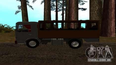 Roman Bus Edition para GTA San Andreas esquerda vista