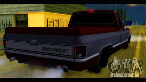 Chevrolet C10 Low para GTA San Andreas esquerda vista