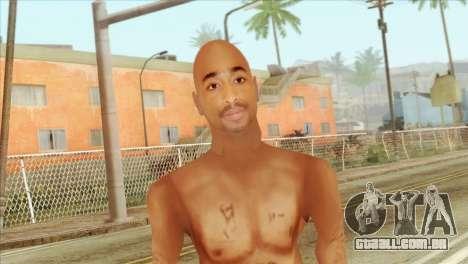 Tupac Shakur Skin v3 para GTA San Andreas terceira tela