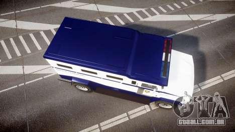 GTA V Brute Police Riot [ELS] skin 3 para GTA 4 vista direita