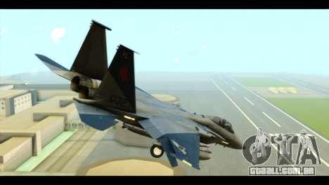 F-15C Eagle para GTA San Andreas esquerda vista