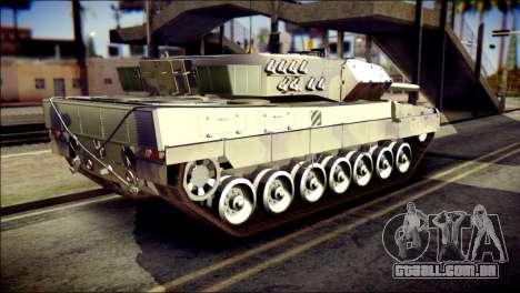 Leopard 2A6 PJ para GTA San Andreas esquerda vista