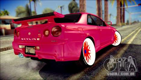 Nissan Skyline GTR V Spec II para GTA San Andreas esquerda vista
