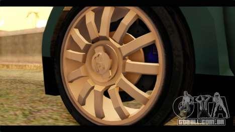 Bugatti Veyron 16.4 para GTA San Andreas traseira esquerda vista