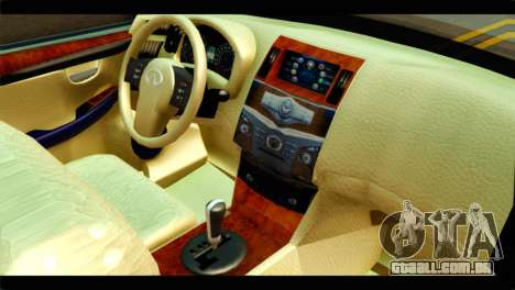 Infiniti QX56 para GTA San Andreas vista direita