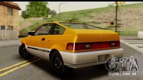 GTA 4 Blista Compact para GTA San Andreas esquerda vista