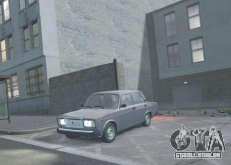 VAZ 2107 de Drenagem para GTA 4