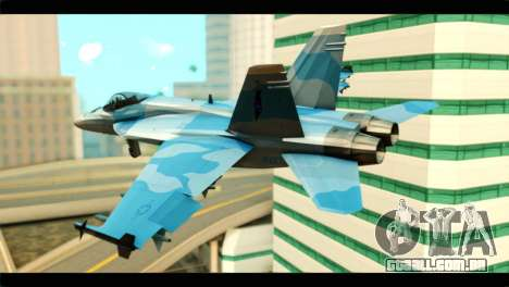 FA-18 Super Hornet Aggressor Squadron para GTA San Andreas esquerda vista