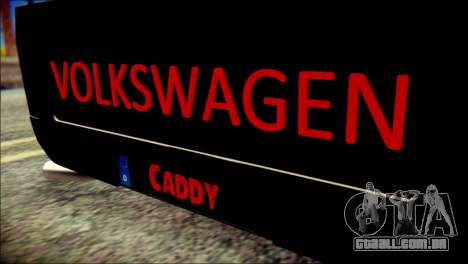 Volkswagen Caddy Widebody Top-Chop para GTA San Andreas vista traseira