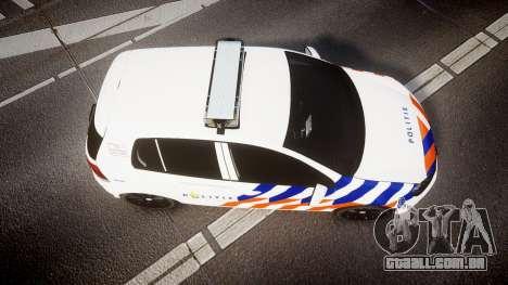 Volkswagen Golf Mk6 Dutch Police [ELS] para GTA 4 vista direita