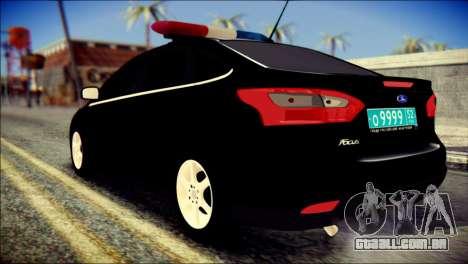 Ford Focus ДПС para GTA San Andreas esquerda vista