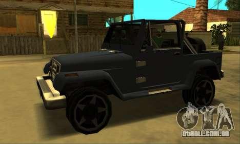 Mesa Final para GTA San Andreas traseira esquerda vista