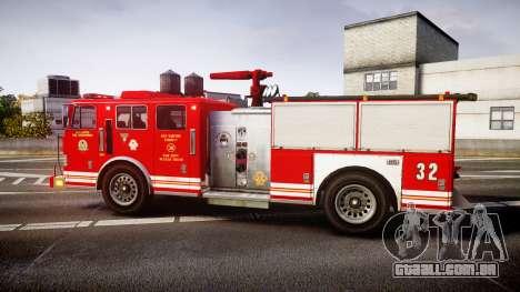 GTA V MTL Firetruck para GTA 4 esquerda vista