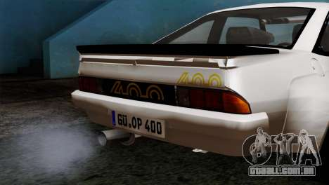 Opel Manta 400 v2 para GTA San Andreas vista direita