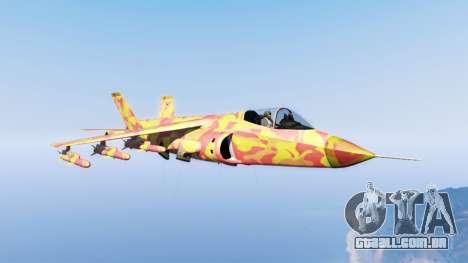 Hydra lava camouflage para GTA 5