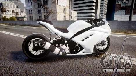 Kawasaki Ninja 250R Tuning para GTA 4 esquerda vista