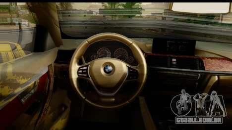BMW 335i Coupe 2012 para GTA San Andreas vista interior
