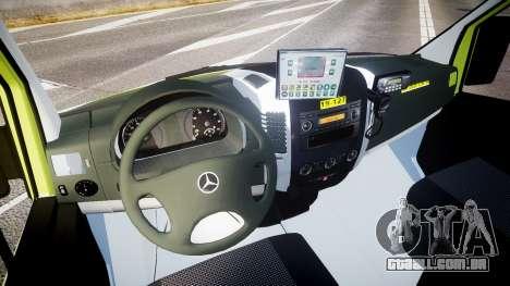 Mercedes-Benz Sprinter 311 cdi Belgian Ambulance para GTA 4 vista de volta