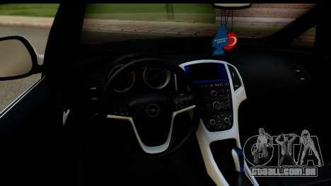 Opel Astra J para GTA San Andreas vista interior