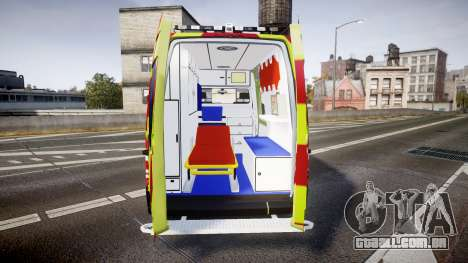 Mercedes-Benz Sprinter 311 cdi Belgian Ambulance para GTA 4 vista interior