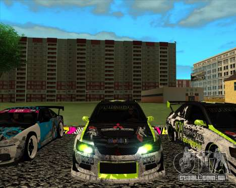 Mitsubishi Lancer Evolution IX Monster Energy DC para GTA San Andreas esquerda vista