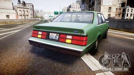 Ford LTD LX 1985 v1.6 para GTA 4 traseira esquerda vista