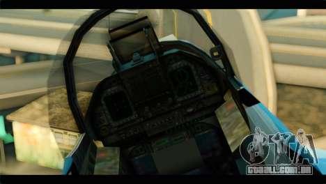 FA-18 Super Hornet Aggressor Squadron para GTA San Andreas vista traseira