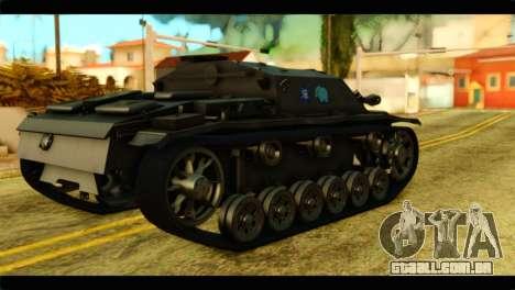 StuG III Ausf. G Girls und Panzer para GTA San Andreas esquerda vista