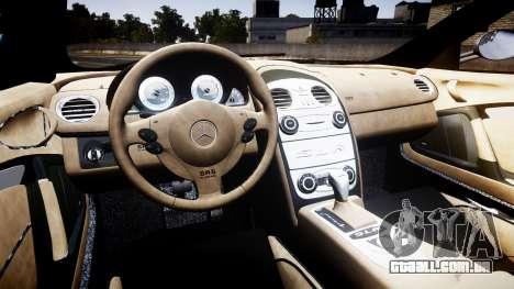 Mercedes-Benz McLaren SLR 2005 [EPM] para GTA 4 vista de volta