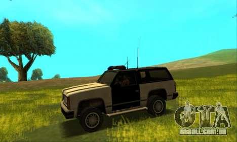 Beta Police Ranger para GTA San Andreas vista traseira