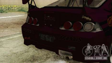 Acura RSX Hinata Itasha para GTA San Andreas vista direita