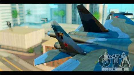 SU-34 Fullback Russian Air Force Camo Blue para GTA San Andreas traseira esquerda vista