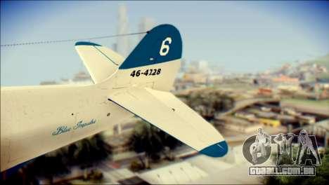 P-39N Airacobra JASDF Blue Impulse para GTA San Andreas traseira esquerda vista