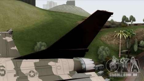 F-16C Top Gun para GTA San Andreas traseira esquerda vista