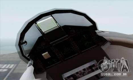 MIG 1.44 Flatpack Russian Air Force para GTA San Andreas vista direita