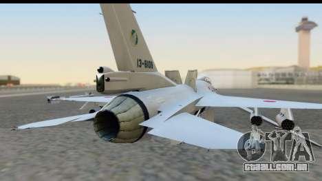 F-2A Zero White para GTA San Andreas vista traseira