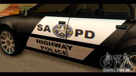 Stratum Police Highway v1.0 para GTA San Andreas vista direita