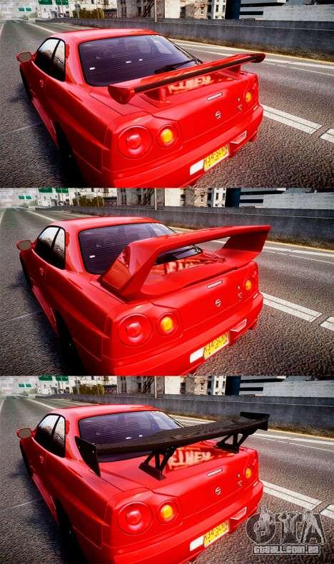 Nissan Skyline BNR34 GT-R V-SPECII 2002 para GTA 4 vista interior