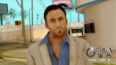 Nick from Left 4 Dead 2 para GTA San Andreas terceira tela