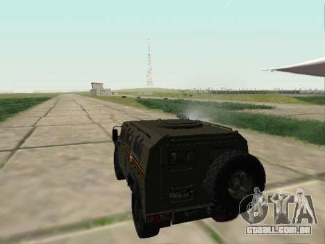 GAZ 2330 Frente para GTA San Andreas vista interior