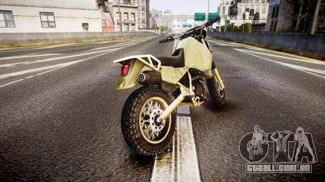 Dirt Bike para GTA 4 traseira esquerda vista